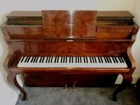BEAUTIFUL UPRIGHT PIANO DANEMANN NEWLY REFURBISHED, BEAUTIFUL WARM SOUND
