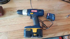 Ryobi 18 volt drill and charger