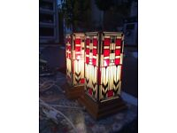 Table lamps modelled in Charles Rennie Mackintosh style, very desirable