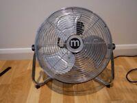 """14"""" Chrome Standing Floor Fan"""