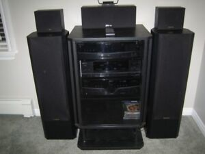 Fisher Stereo System and Cabinet for Sale