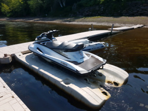 Yamaha VX1100 with easy hauler trailer and wave armour dock