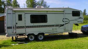 Golden Falcon fifth wheel travel trailer