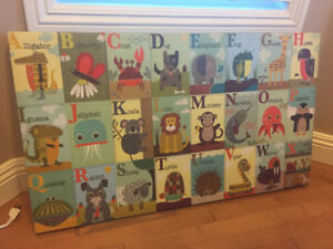 Children's Illustrated Alphabet Wall Picture from Home Sense