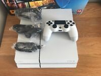 White PS4 500GB with box and everything