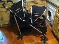 COSATTO Duet Lite Double buggy pram adjustable seat , swivel wheels