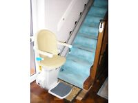 Straight Stairlift LHS - Powered Footrest & Chair Swivel - ABSOLUTE BARGAIN ++++Only 6 Wks Old ++++