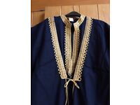 Men's Genuine Egyptian Navy & gold outfit