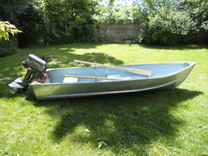 12' aluminum boat with 8 hp Nissan