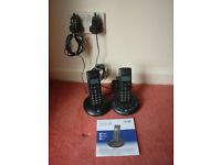 BT Graphite Twin Cordless Telephones