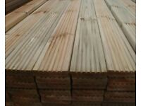 Timber Decking boards essex best quality all treated 4.2m lengths 125mm x 32mm