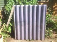 Corrugated roof panels