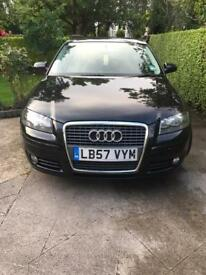 2008 Audi A3 1.9 tdi sport black Diesel 5doors hatchback mot 12 August 2018