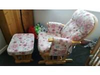 Beautiful nursing chair and foot stool