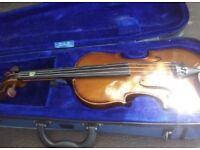 Natural coloured violin 3/4 (no bridge)