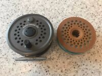 Vintage 3.5 inch Leeda Rimfly Concept 395 Trout Fishing Reel with spare spool