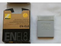 Brand new Nikon EN-EL8 Li-ion battery