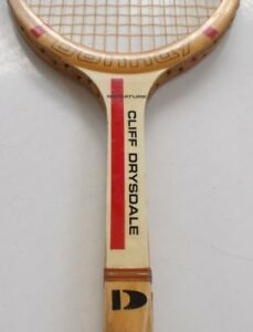 DONNAY CLIFF DRYSDALE - RARE VINTAGE WOOD TENNIS RACKET
