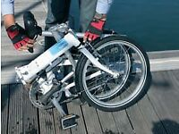 For sale: Fold-up Bike, Tern C7, Good Condition, blue/white, perfect for commuting