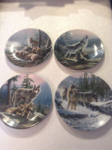 Wolf and bear Bradford exchange plates