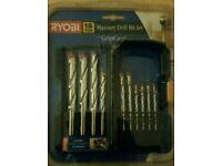 Ryobi 16 piece masonry drill bit set with grip case