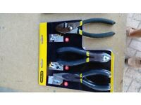Stanley Pliers Set 3 Piece Set (still packaged and unused) (£10 per pack, or £15 for 2 packs)