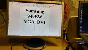 Monitors - including VGA and power cable - $20 each