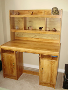 Large Desk with Hutch and Storage