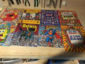 8 X cherche et trouve Superman Batman Charlie Mickey Petshop