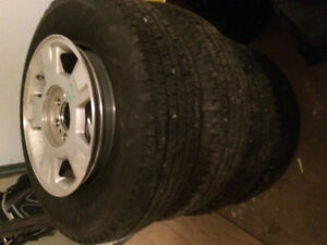 New hankook dynapro p235/75R17 Tires with rims
