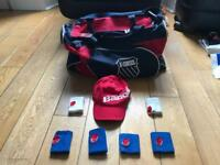 K-Swiss Tennis bag and Babolat Sweatbands and cap