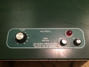 Altec 1590c 200w Amplifiers + other do dads
