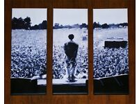 Liam Gallagher knebworth 3 part limited addition canvas