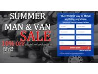 UK & EUROPEAN REMOVALS, CHEAPEST MAN & VAN, SALES 10% OFF ONLINE BOOKING , INSTANT ONLINE QUOTE NSC