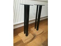 Atacama Moseco 6 Speaker Stands new Gloss Black/Satin Black & Natural Bamboo / Mint condition