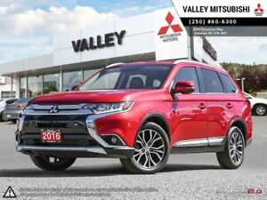 2016 Mitsubishi Outlander GT-V6, NAV, LEATHER, SUNROOF,TOUCH SCR