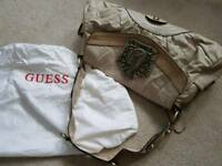 GUESS Brand new leather handbag, neutral colour.