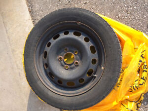 Set of winter tires with rims - 205/55/16