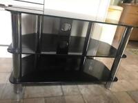 Black glass television stand- Washington area