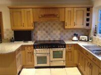 Rangemaster dual fuel cooker, kitchen units plus marble worktops