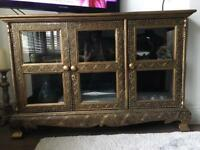Thailand intricate detailed showcase TV stand