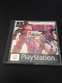 Sony PlayStation Ps1 Street Fighter Alpha 3 game