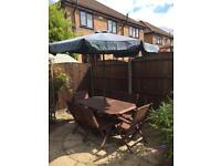 7 piece Wooden Garden Table and Chairs