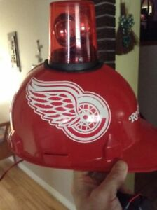 Rare Detroit Red Wings Hard-Hat with Spinning Light
