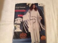 GHOST LADY FANCY DRESS OUTFIT SIZE L NOT M AS IN PIC 18/20/22 PARTY OR HEN DO