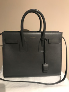 Authentic Saint Laurent Small Sac De Jour - Grey