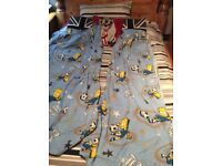 2 Bart Simpson duvet covers with matching curtains