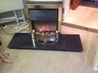 Electric Fire with base