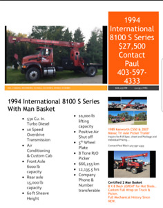 CRANE TRUCKS, INDIVIDUAL OR ALL FOR SALE