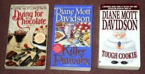 Diane Mott Davidson Book Lot – 3 Pocket Books (USED)
